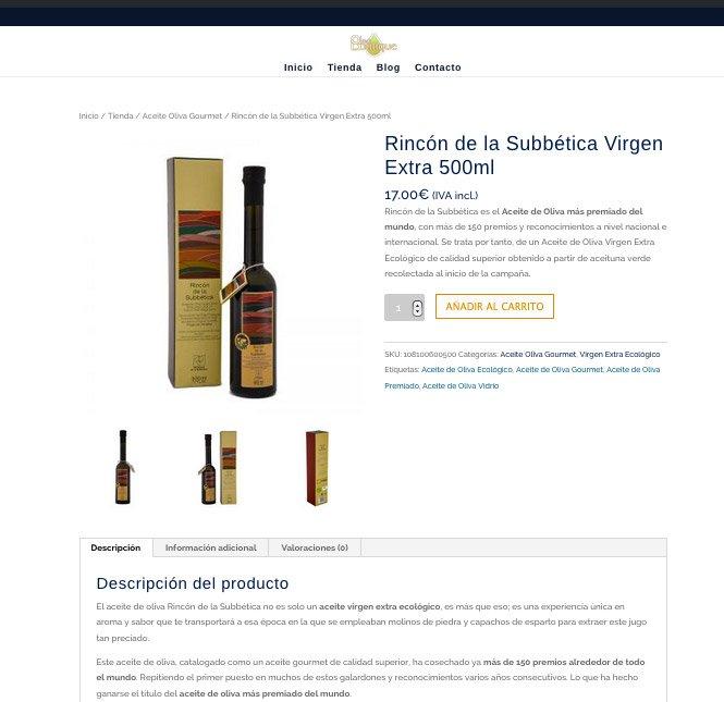 diseño web tienda online divi