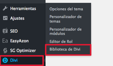 biblioteca divi WordPress