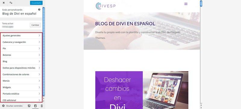 configurar blog con constructor divi