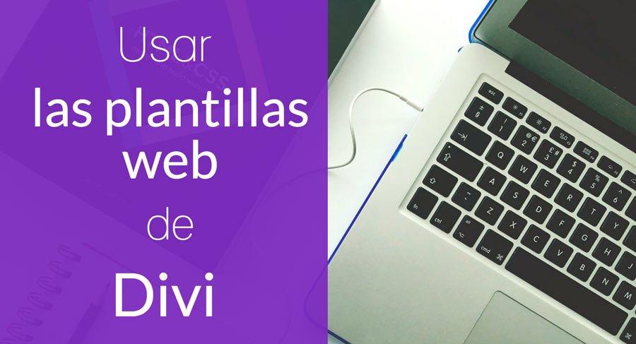 crear web con diseños predefinidos divi