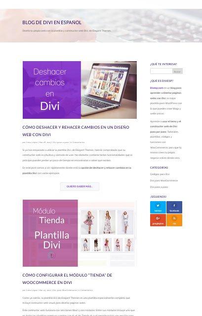 divi ejemplo blog