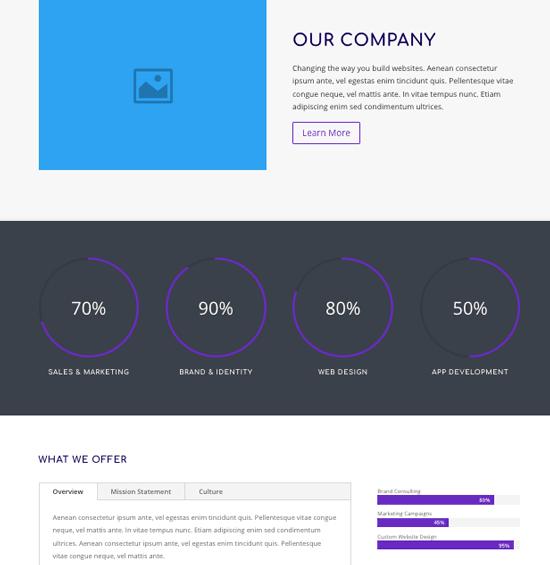 ejemplo página web inicio corporativa