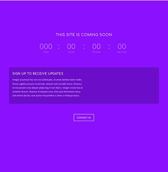 ejemplo página web proximamente