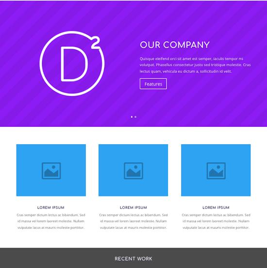 página web divi