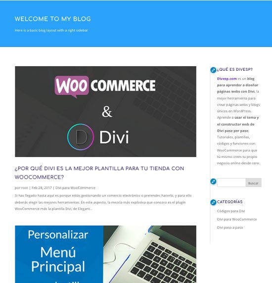 plantilla wordpress para blog
