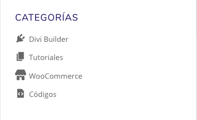añadir icono menú categorias