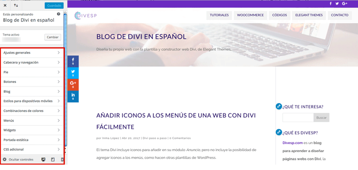 cambiar plantilla wordpress