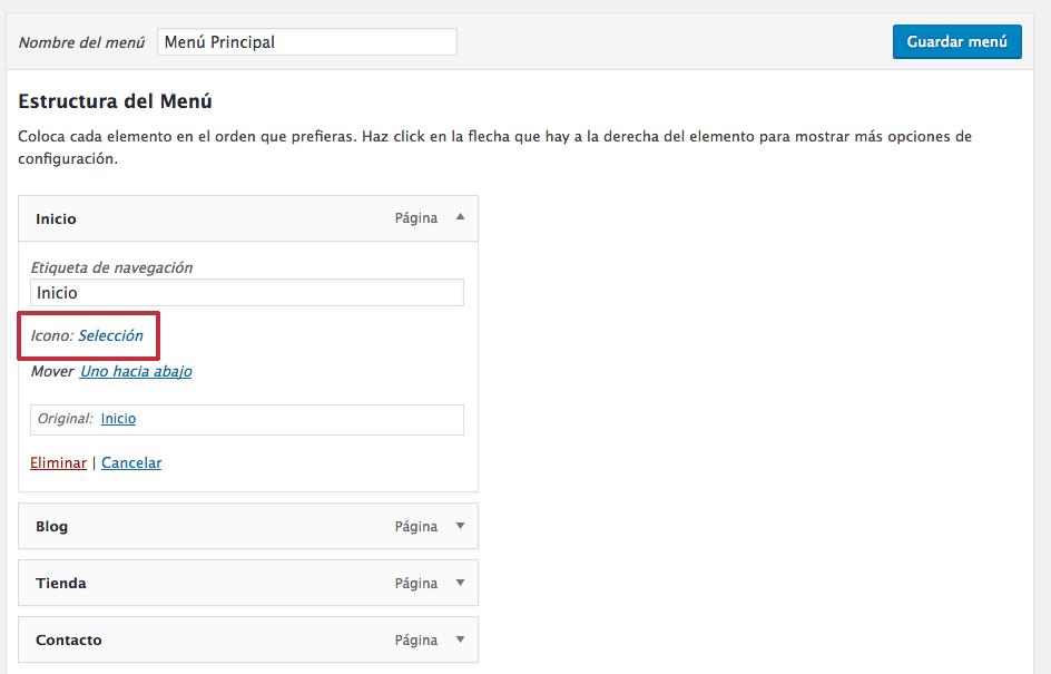 plugin añadir icono