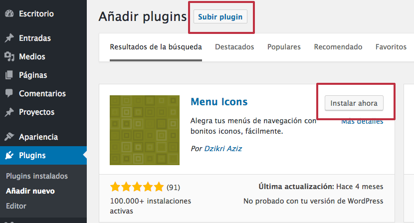 plugin iconos wordpress