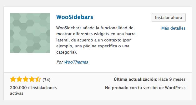 plugin añadir sidebar woosidebars
