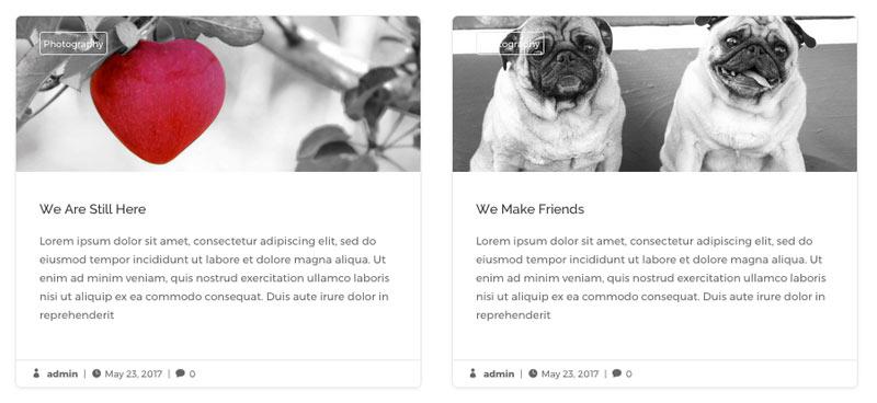 diseño de blog con Divi en dos columnas