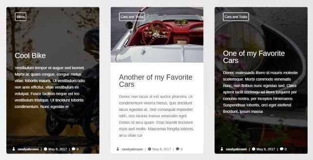 diseño original blog con divi