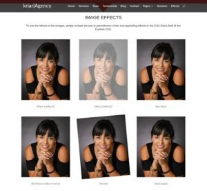 imágenes web con efectos