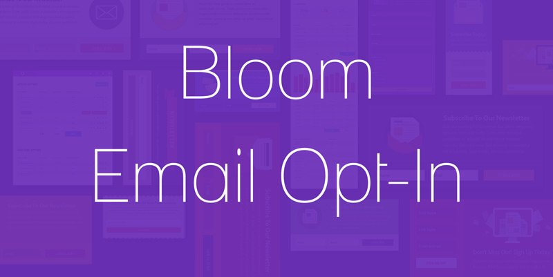 Crear formularios de suscripción fácilmente con Bloom Email Opt-In