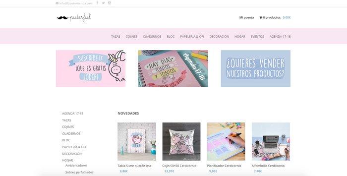 ejemplo tienda online hecha con divi