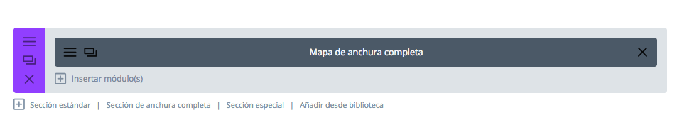 añadir módulo mapa ancho completo divi