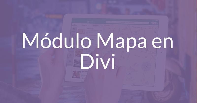 Cómo insertar un mapa de ancho completo en Divi
