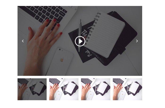 añadir slider con vídeos en divi